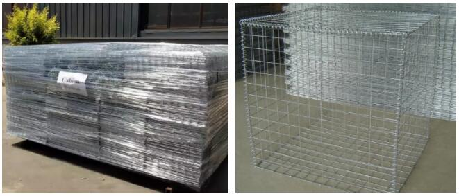 Welded mesh gabions for landscaping