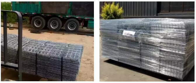 Welded mesh gabion box for retaining wall