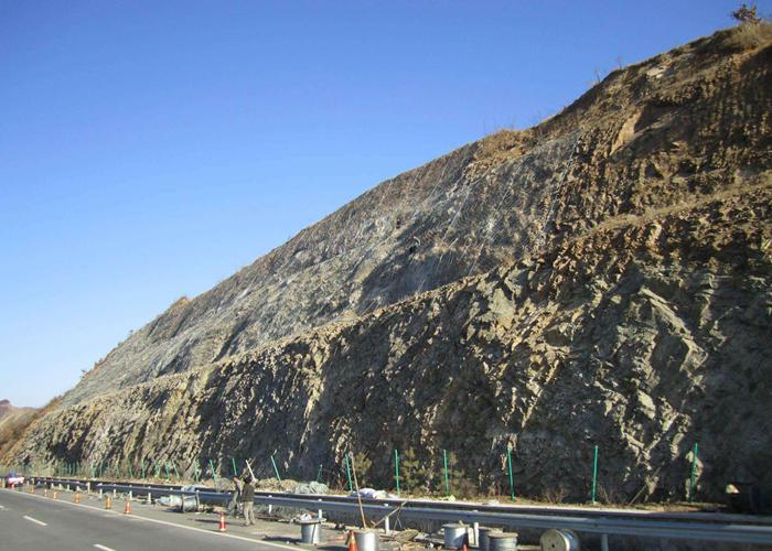 SNS flexible rockfall protection netting