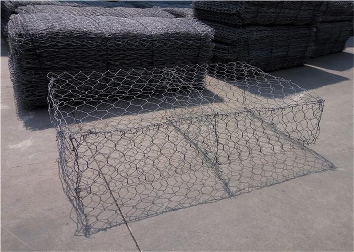 Hexagonal Metal Gabion Baskets Wear Resistant For Soil Erosion Protection
