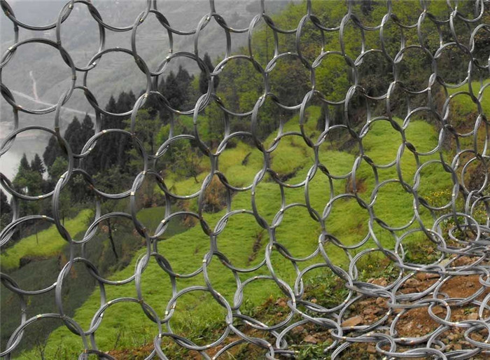 Steel Wire Ring Net - Chain Link or Hexagonal Wire Mesh Combination of slope protection