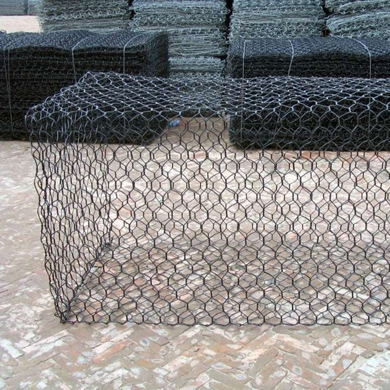 PVC coated hexagonal woven gabion stone cage gabion basket