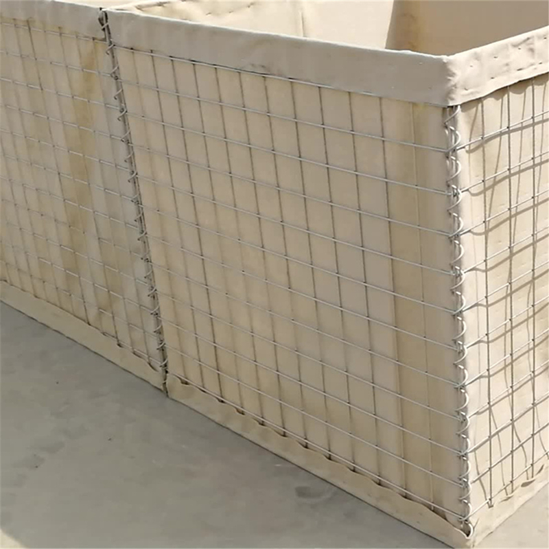 Brown Color Hesco Bastion Or Army Defensive Hesco Wall With Galfan Wire