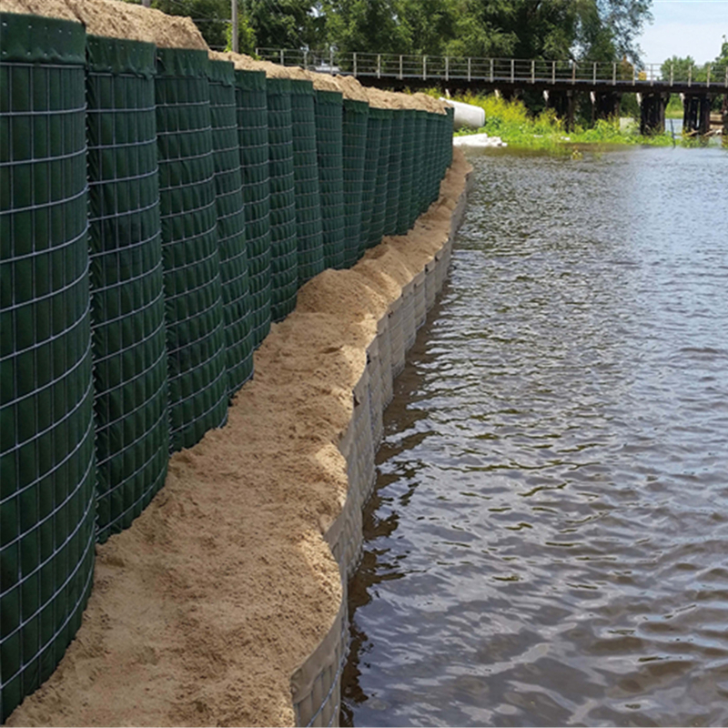 Welded Military sand gabion box wall hesco barrier